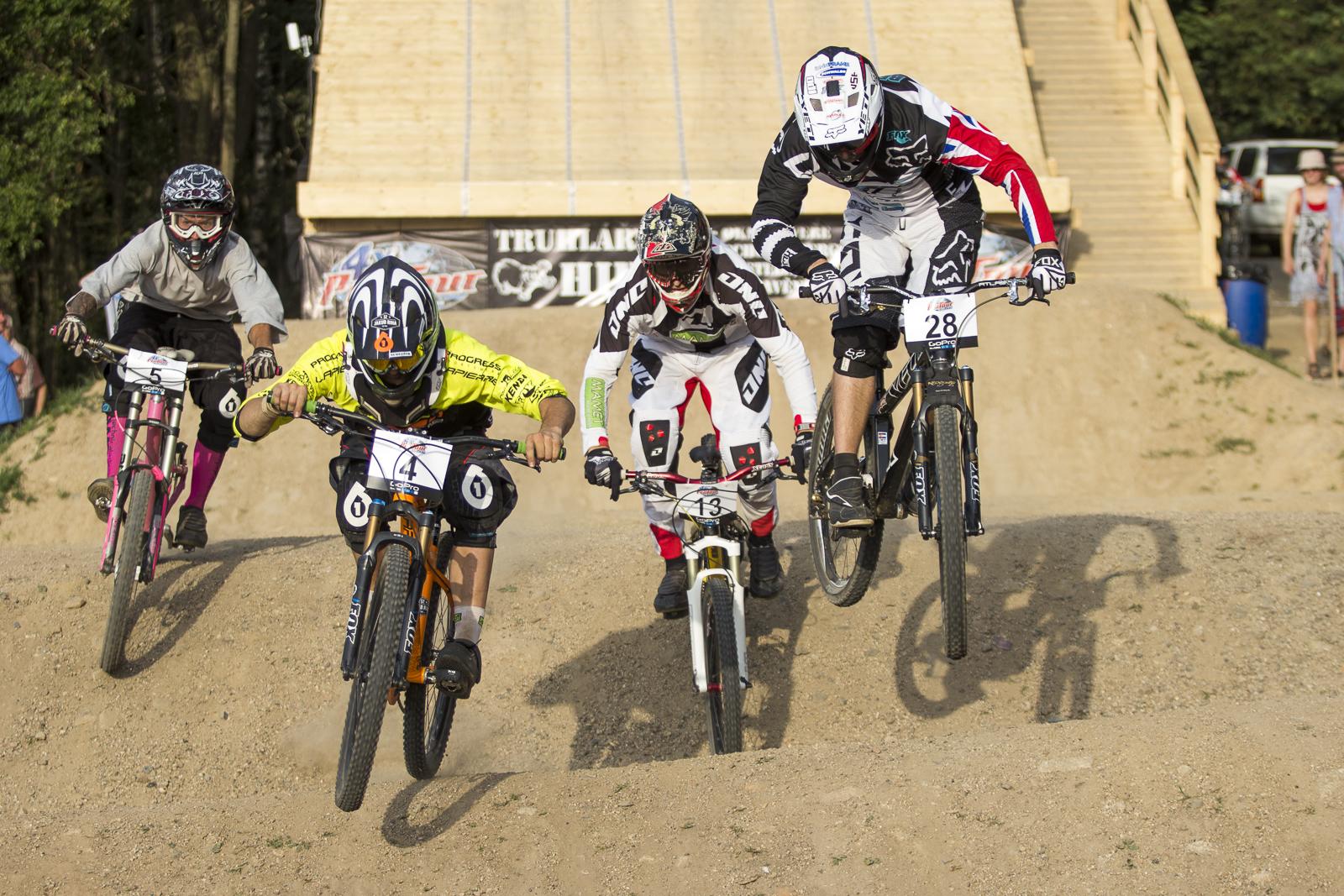 During round 4 of The 4X Pro Tour at JBC Bike Park, Jablonec, Czech Republic. 3August,2013 Photo: Charles Robertson